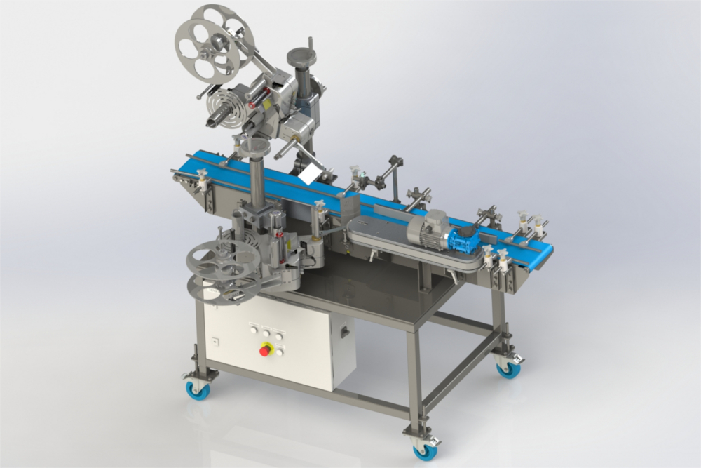 3d model of a labelling machine