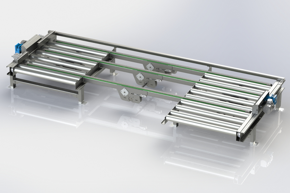 3d model of a conveyor system