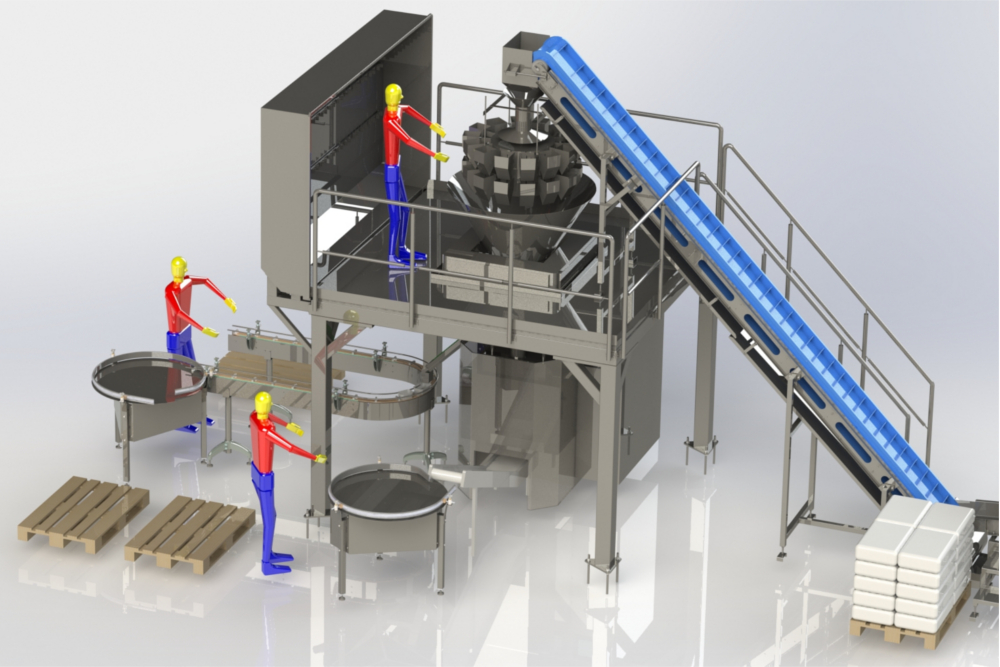 3d model of a filling machine